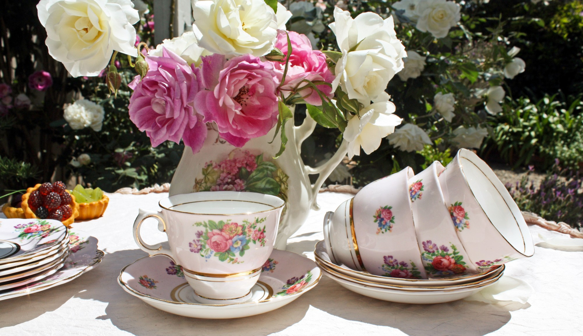 Set your table with vintage china, delicate sandwiches, and sweet ...
