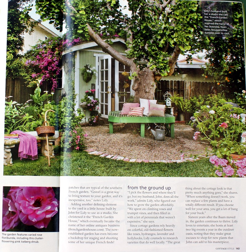 Cottage style magazine garden feature Spring cottage magazine