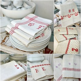 Collecting Antique French Kitchen Linens
