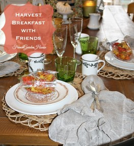Harvest Breakfast Meeting Tablescape