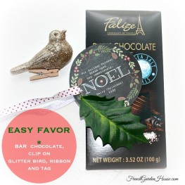 Easy Holiday Chocolate Favor