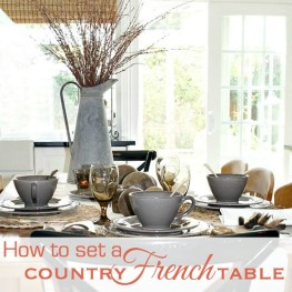 Table Matters : How to Set a Country French Autumn Table