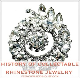 History of Collectable Rhinestone Jewelry