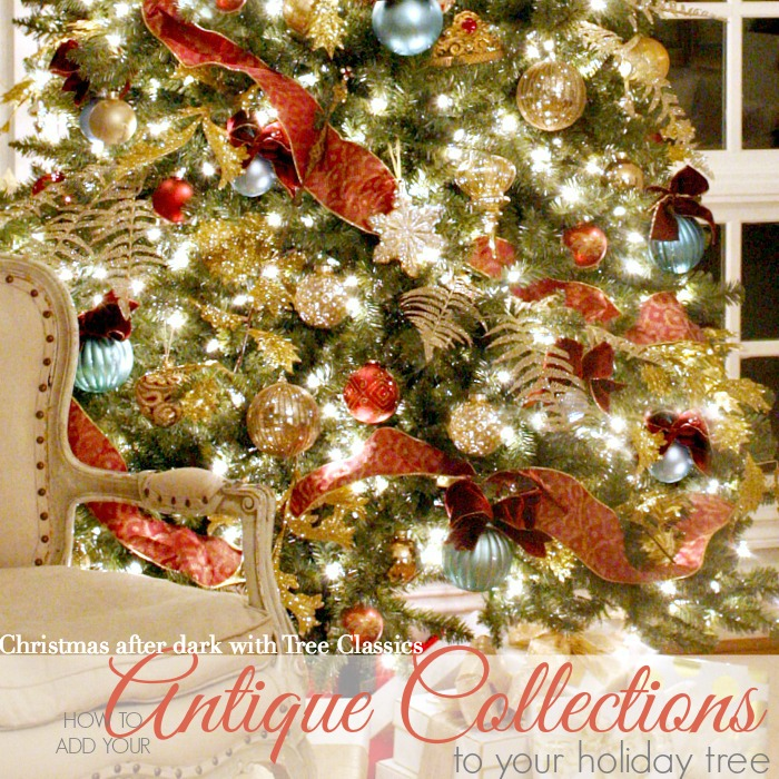 How to Add your Antique Collections to your Christmas Tree