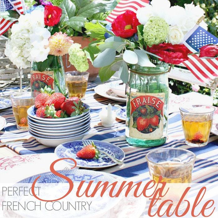 PERFECT FRENCH COUNTRY SUMMER TABLE