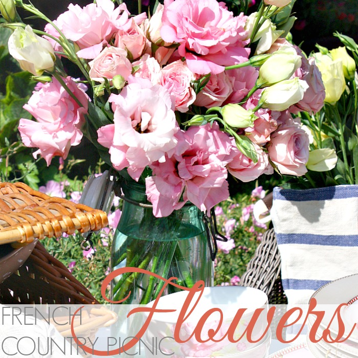 FRENCH COUNTRY PICNIC FLOWERS
