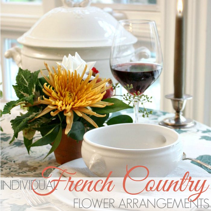 MAKE PETITE INDIVIDUAL FRENCH COUNTRY FLOWER ARRANGEMENTS