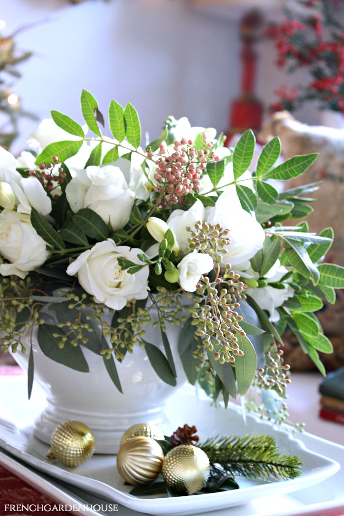 Monday Morning Blooms French Country White Holiday Arrangement