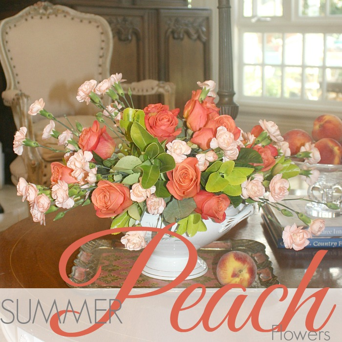 MONDAY MORNING BLOOMS | SUMMER PEACH FLOWERS