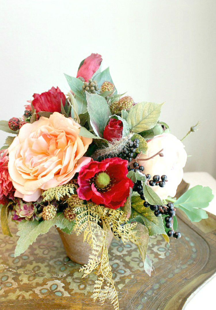 5 PLACES TO DRESS YOUR HOME WITH FAUX FALL FLORALS