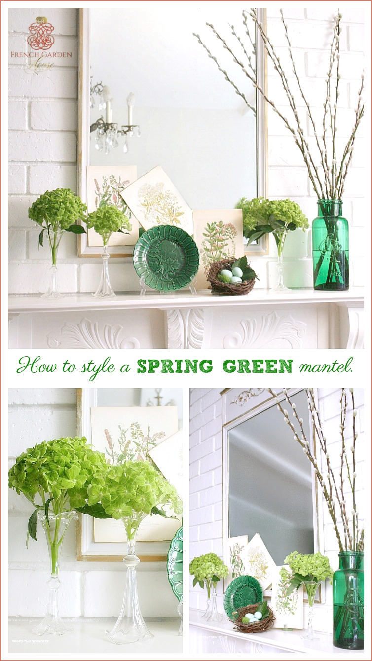 how to design a spring mantel