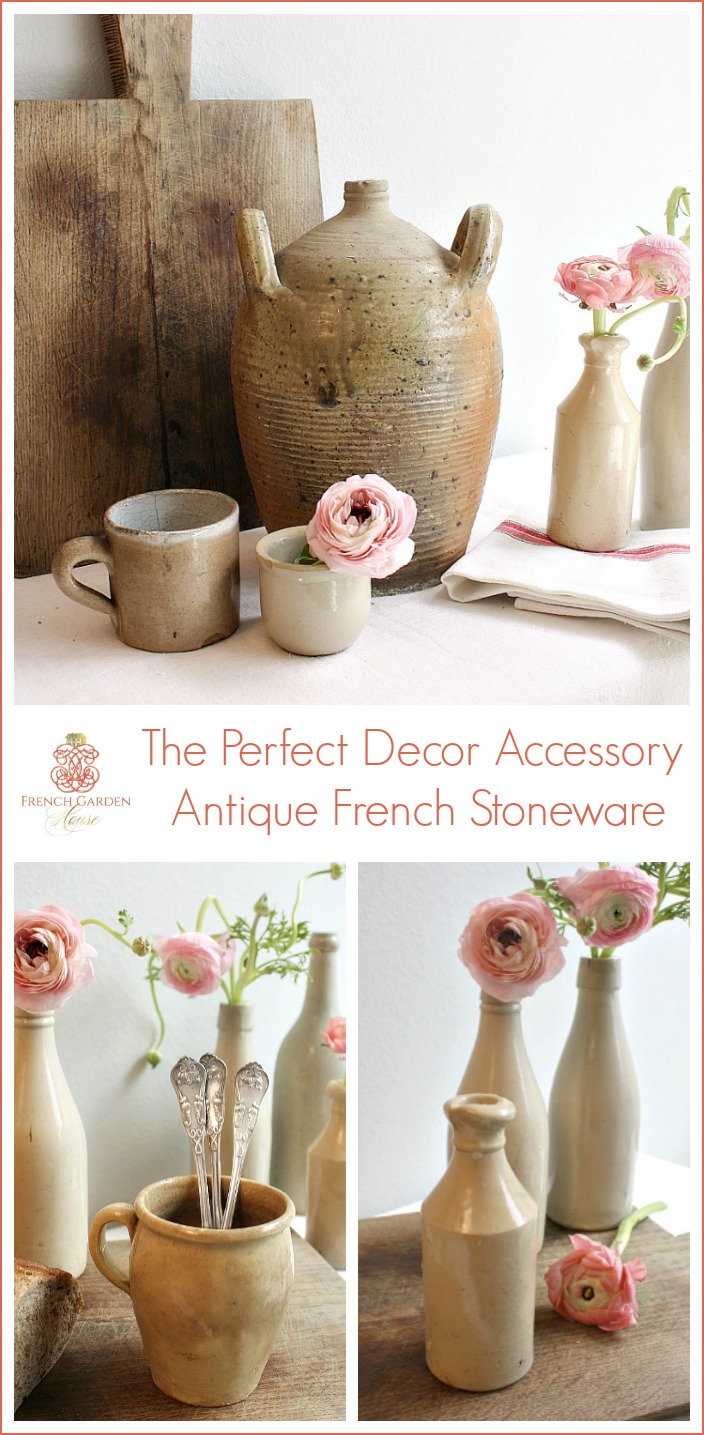 Collecting antique French stoneware decor