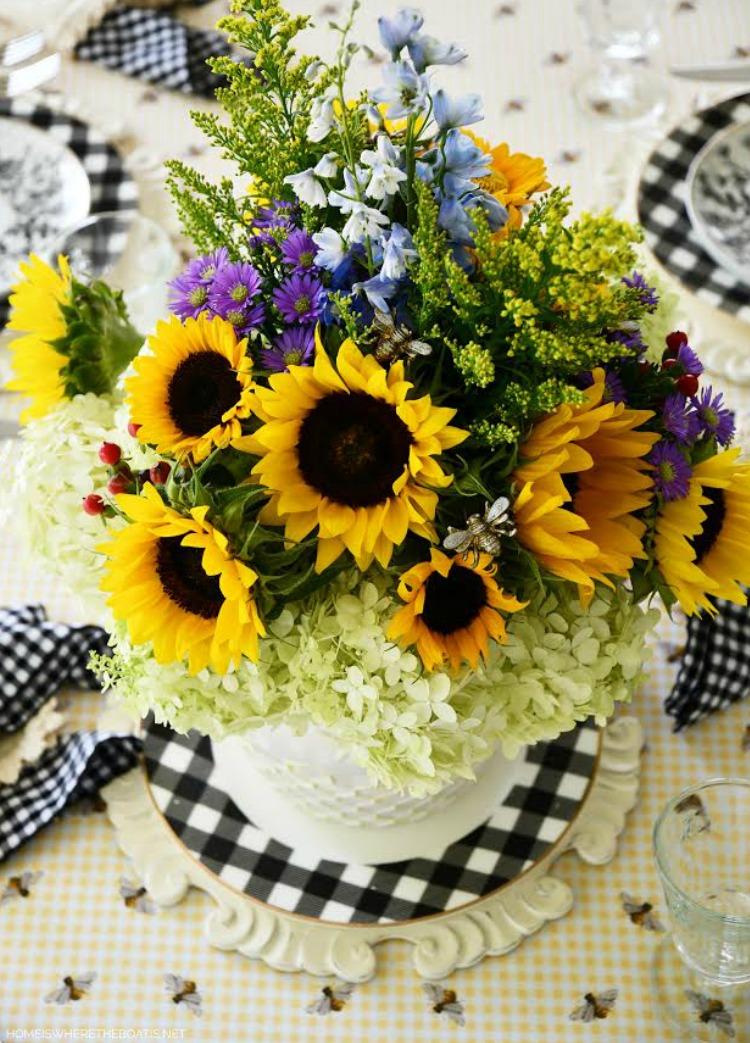 summer flowers and ironstone