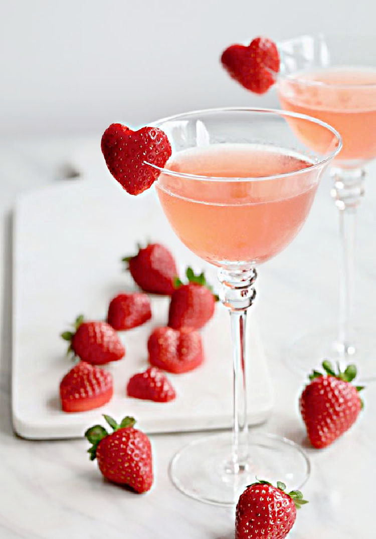 Romantic Strawberry Smash Cocktail
