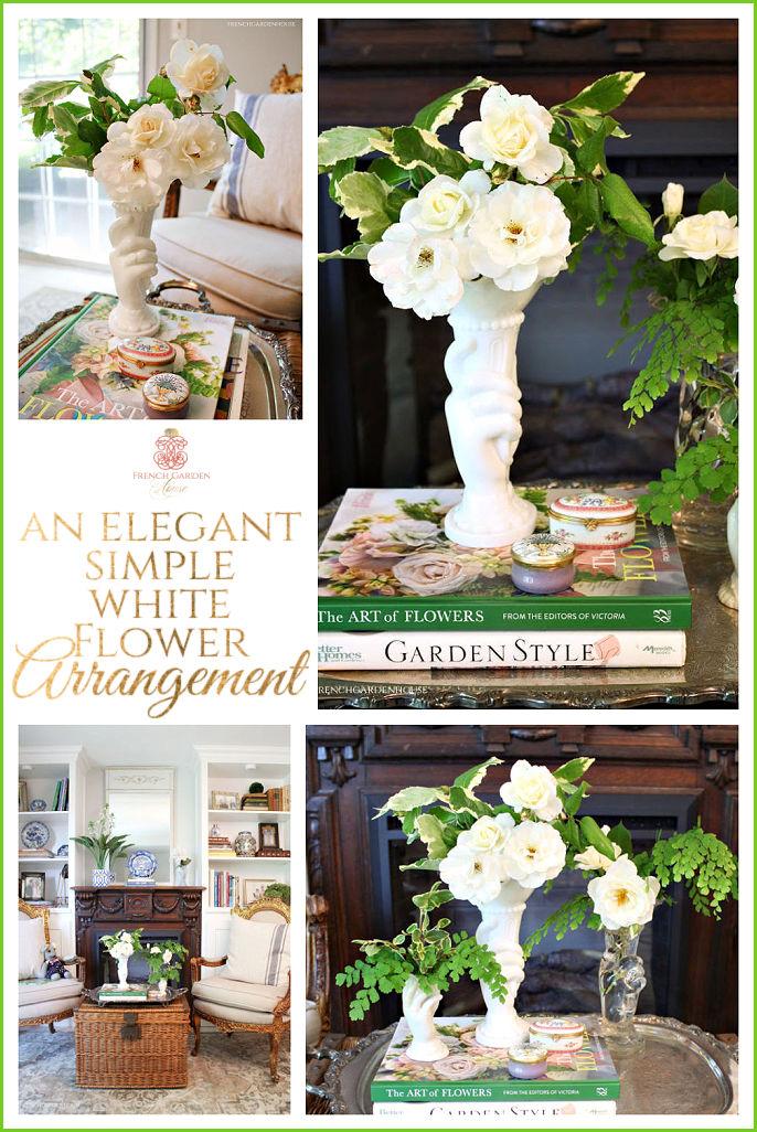How to Arrange white flowers