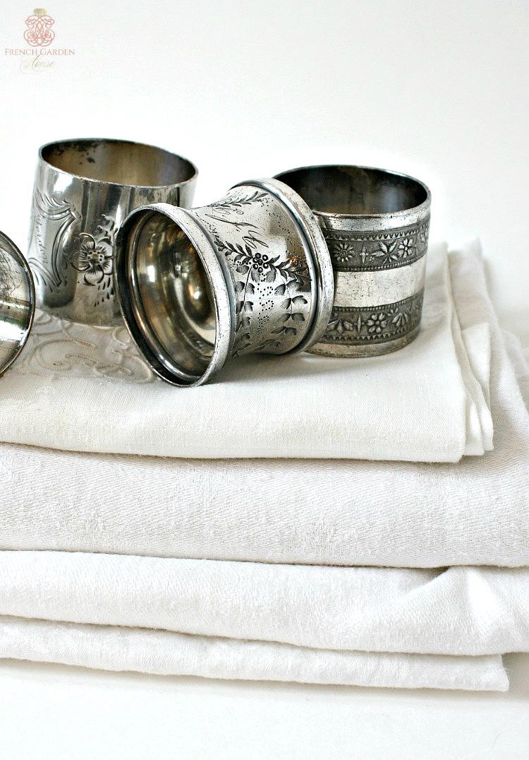 Antique sterling napkin rings