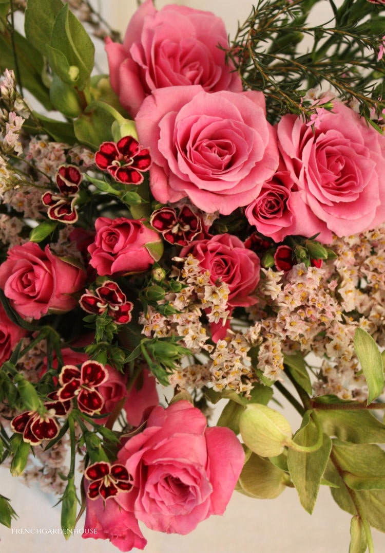 pink French bouquet