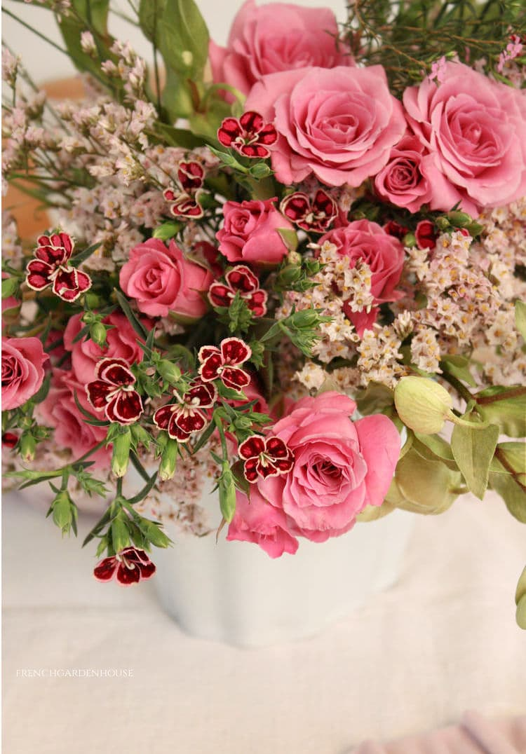 pink French Country Cottage Roses