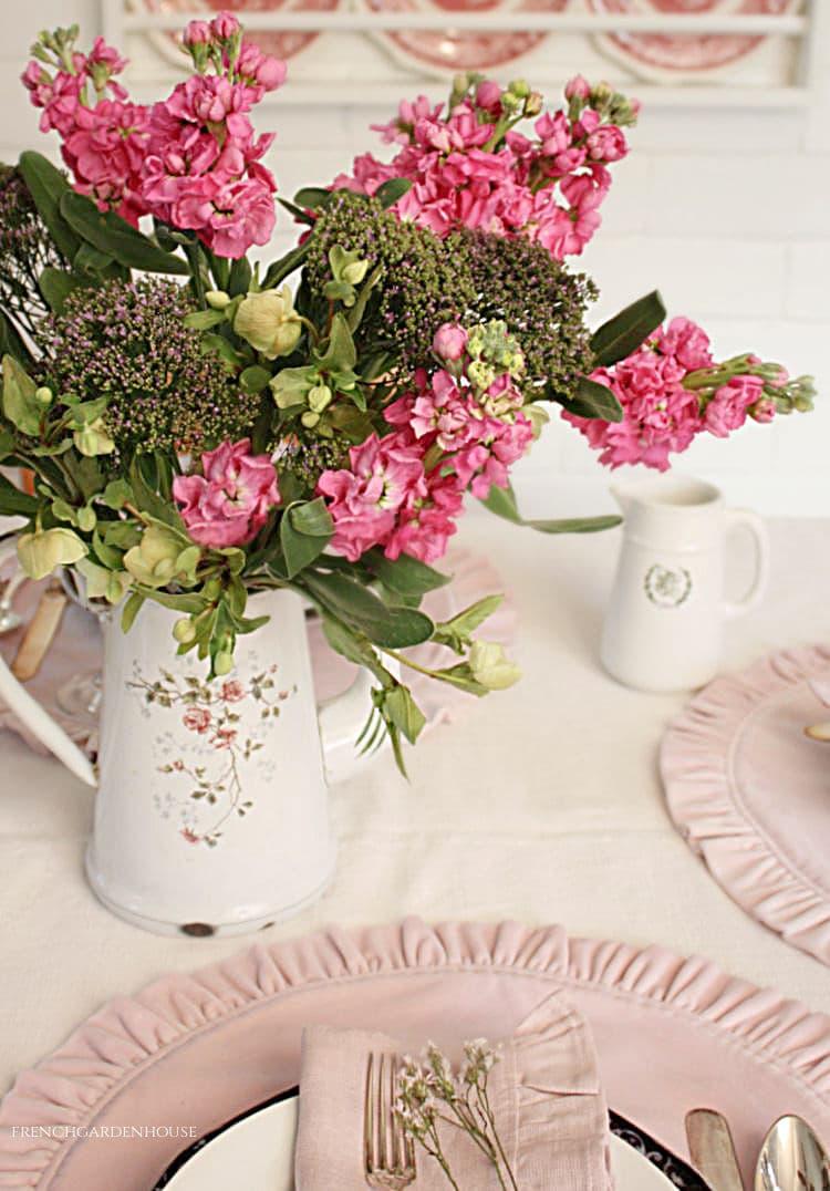 long pink flowers