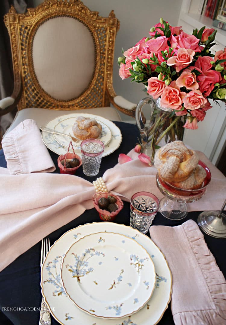 Valentine's Breakfast for Two Table