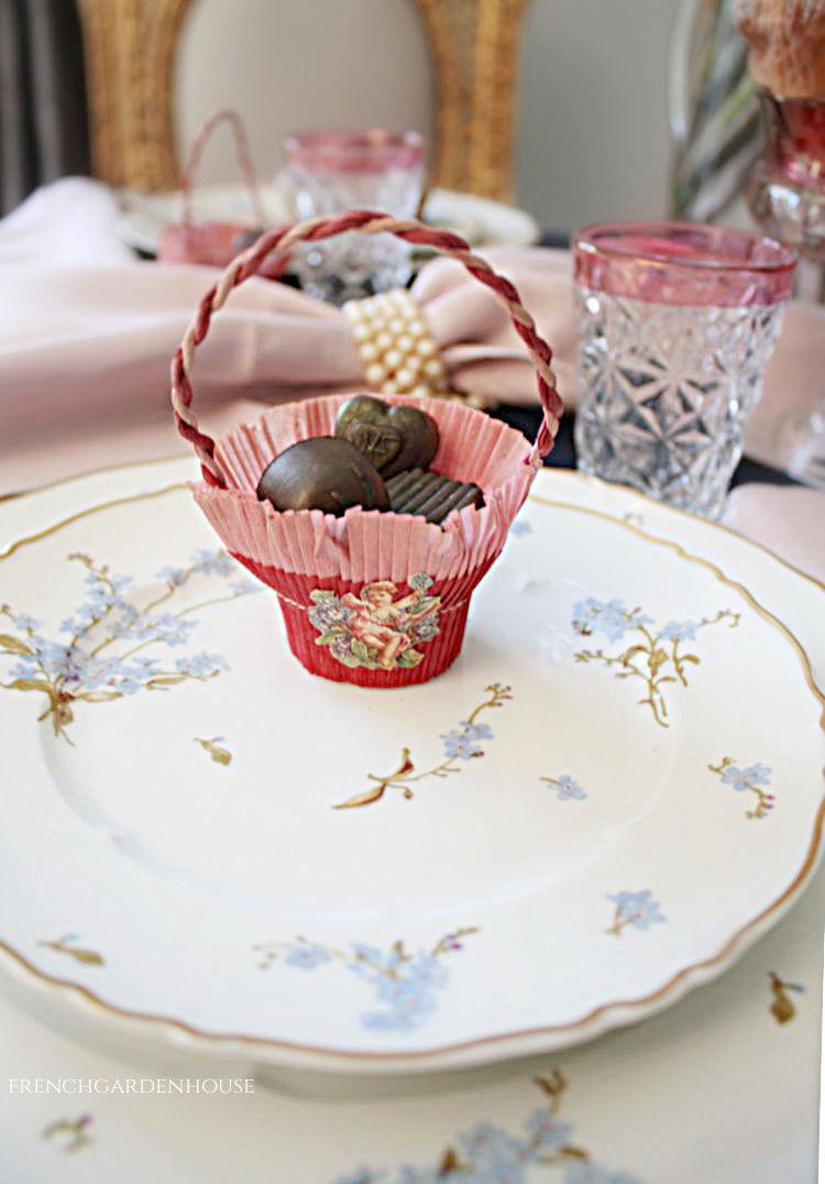 antique valentines day favor