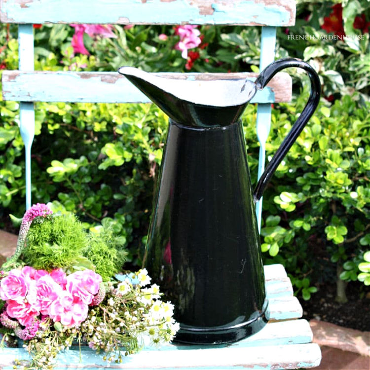black enamel body pitcher