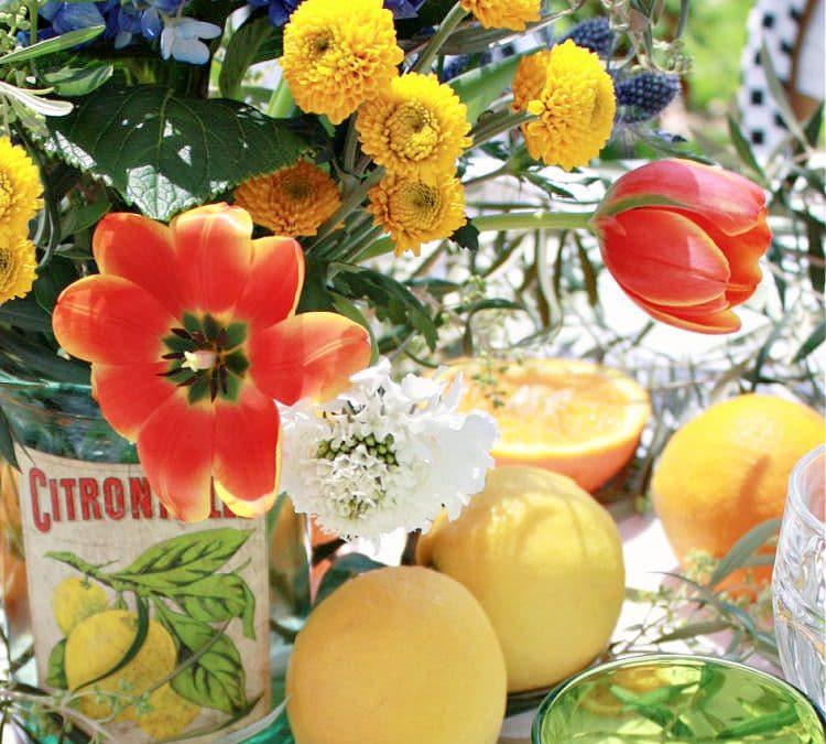 Orangerie Inspired Flower Arrangement