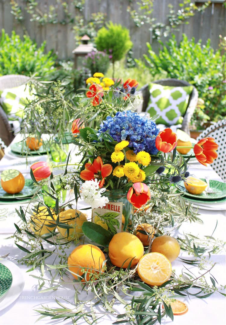 Orangerie Inspired Flower Arrangement