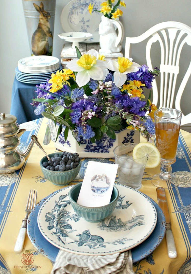 French Country Easter Table