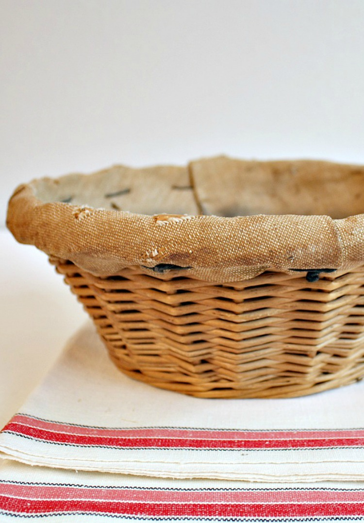 aAntique french bread basket