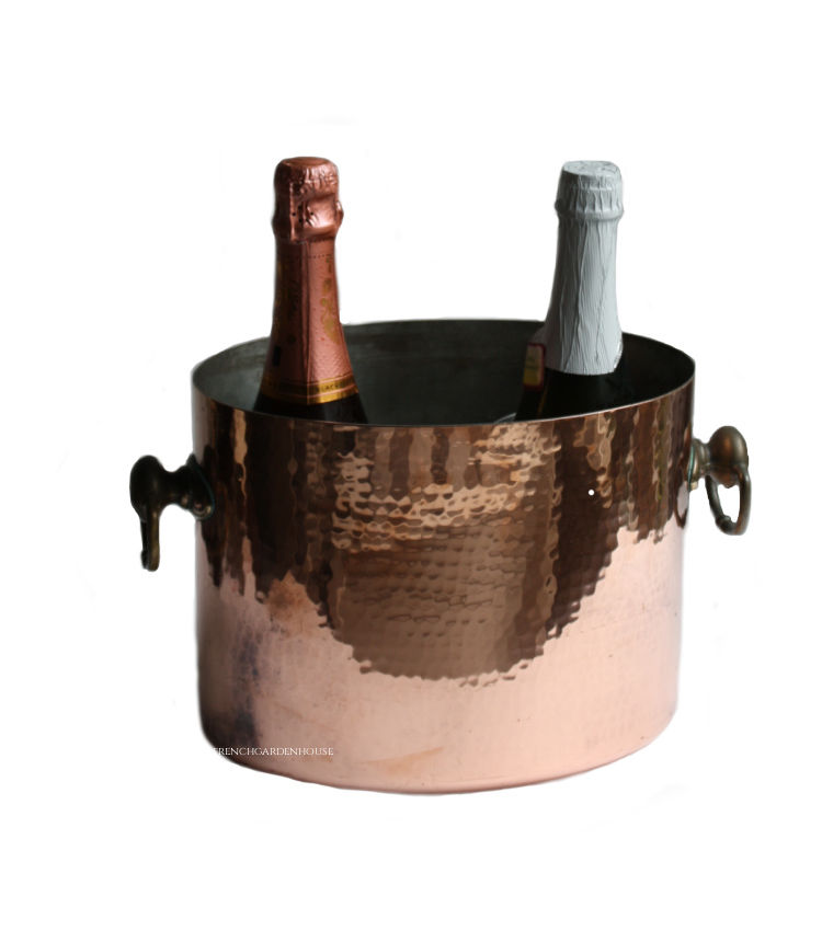 french copper champagne holder