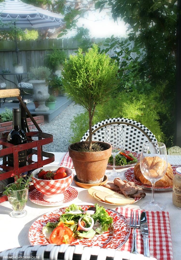 french country outdoor table