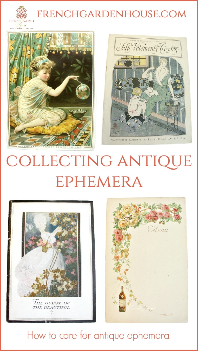 how to care for antique ephemera