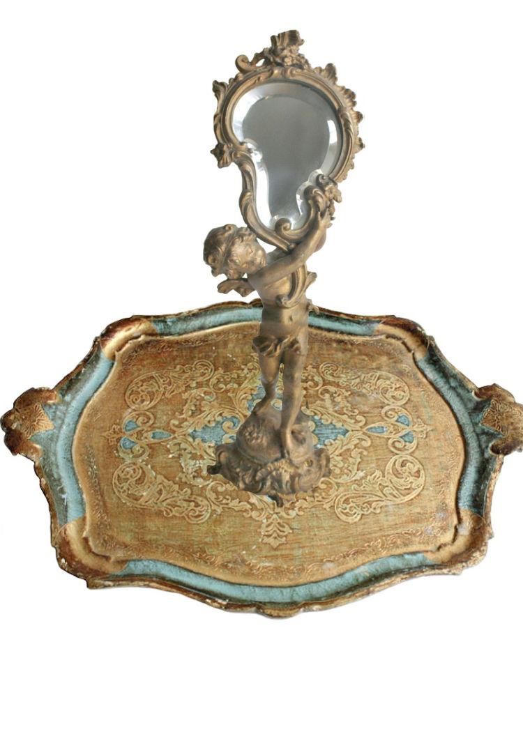 florentine tray Hollywood Regency