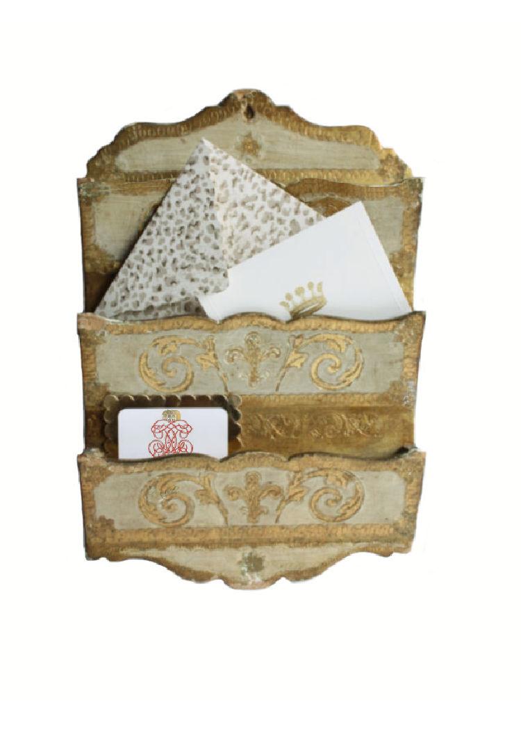 Florentine Gold Letter Holder