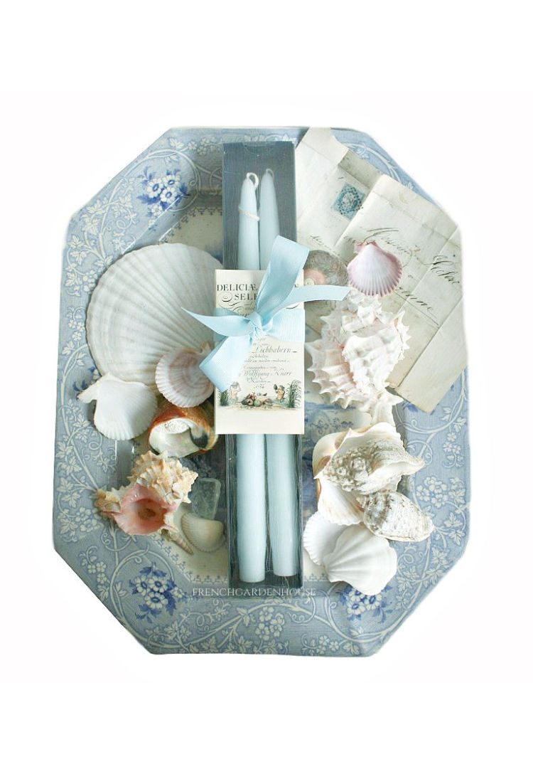 sea mist taper candles luxury gift