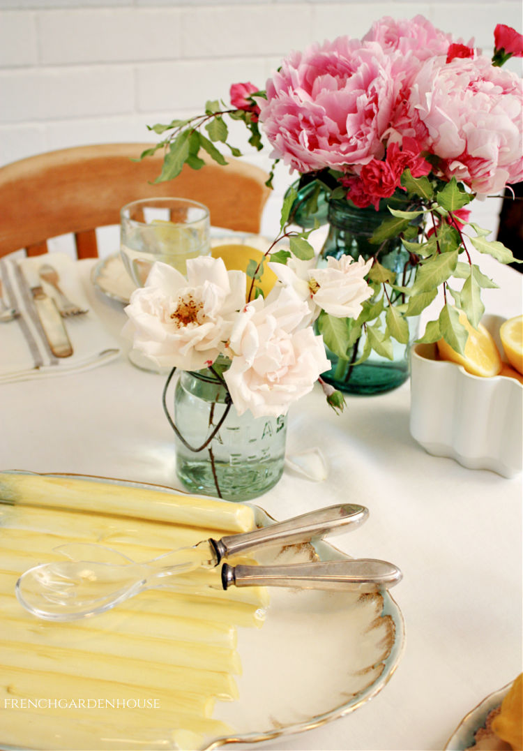 Summer Flowers in Antique French Jars