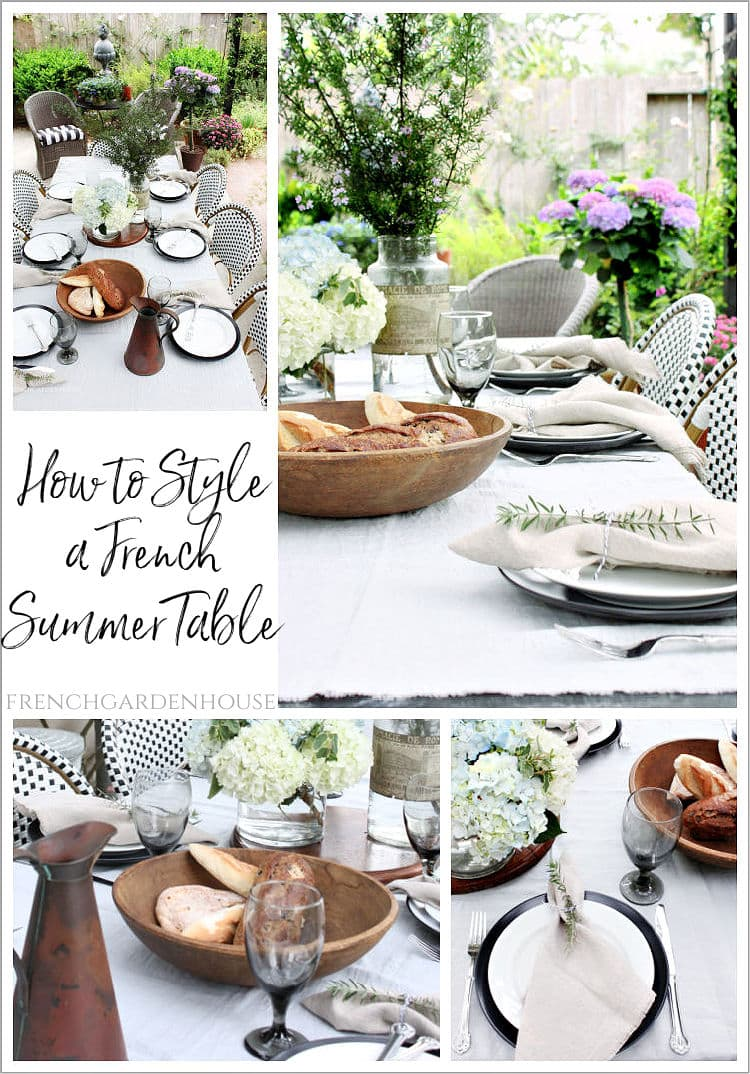 how to style a french country summer table