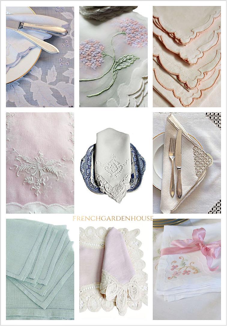 antique table linens