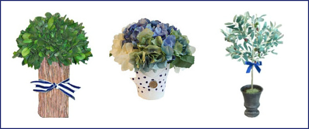 French summer faux flowers