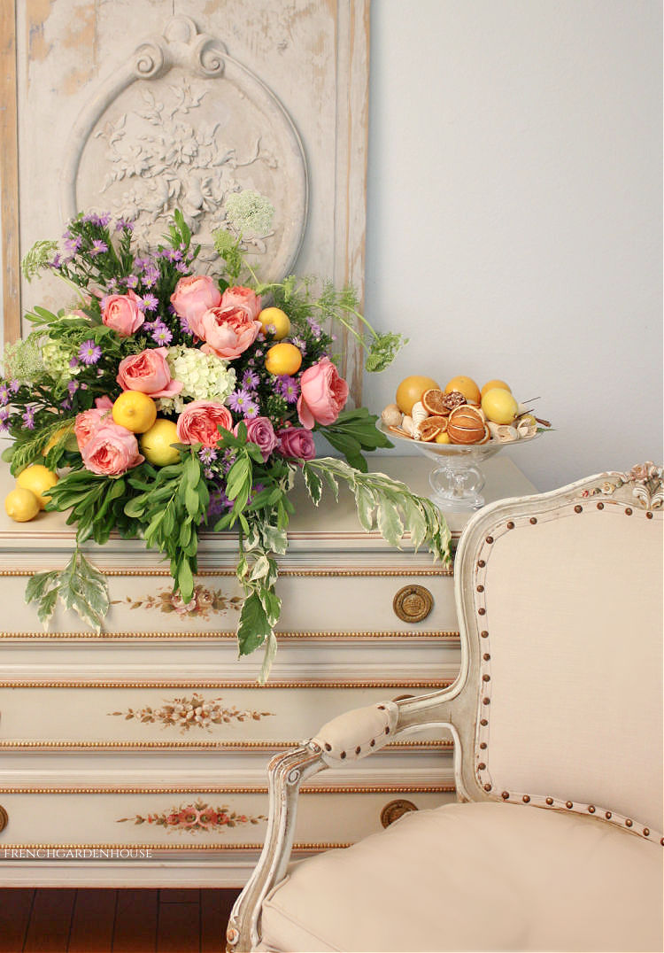 lemons and roses floral
