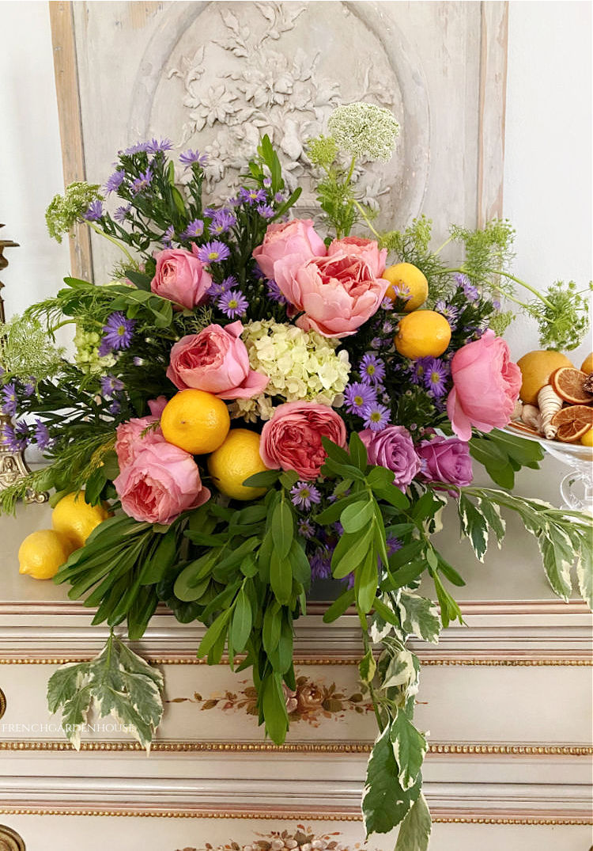 Lemon Fresh Summer Floral Arrangement