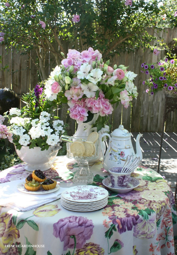 the pleasures of tea in the garden