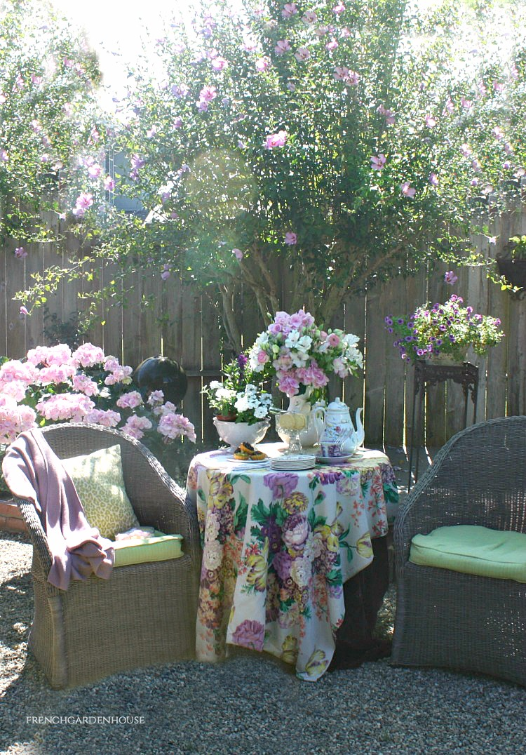tea party in the summer garden