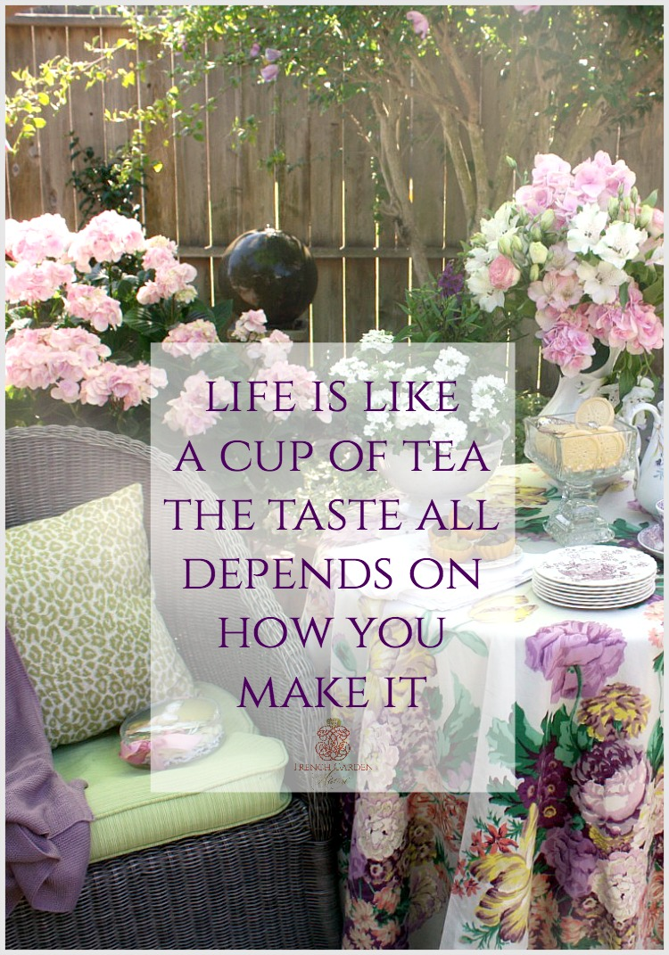 The pleasure of tea in the garden