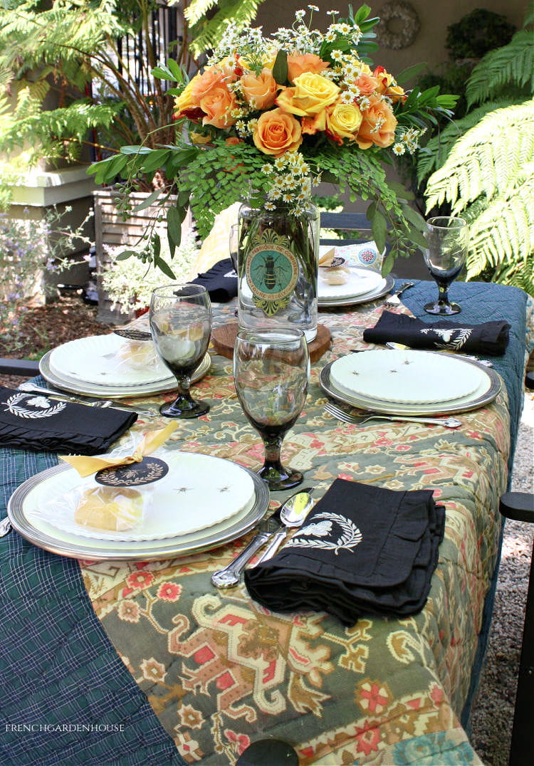 French country summer table setting
