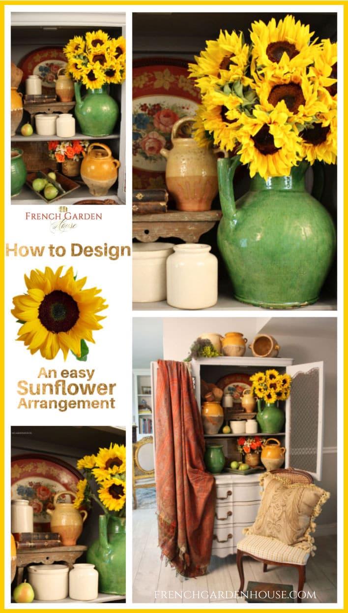Design an easy sunflower arrangment