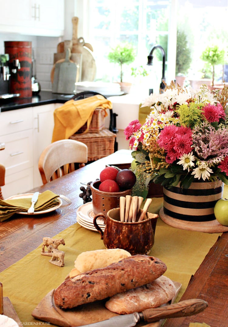 Fall Breakfast French Country Style