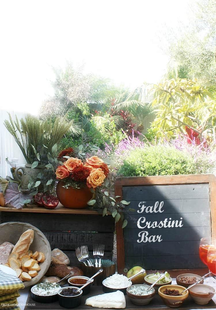 autumn crostini bar