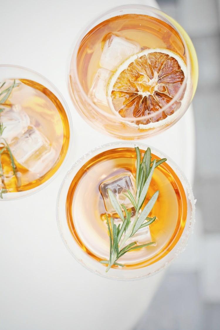 oranges in cocktail